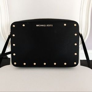 Michael Kors Crossbody Studded Black Bag